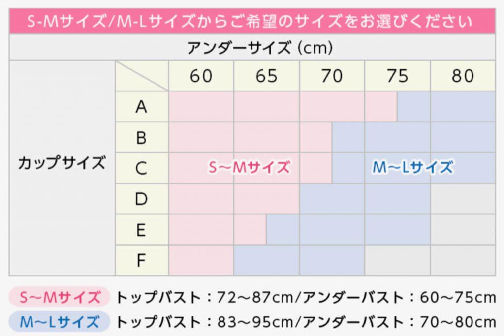 バストサイズ表