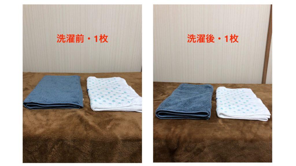 タオル研究所『洗濯前・1枚・洗濯後・1枚』